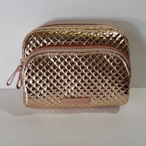 Vera Bradley rose gold cosmetic bag